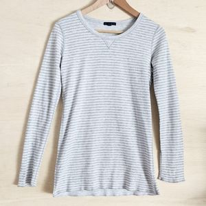 ⚡ CLEARANCE ⚡ GAP Gray Striped Thermal Tee